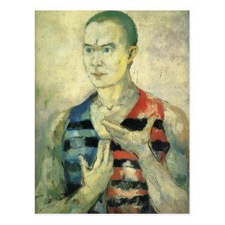 Portrait de Kazimir Malevich- d'une jeunesse Carte Postale