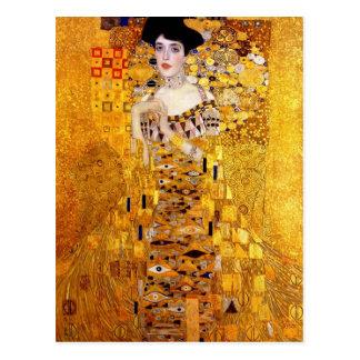 Portrait de Klimt de carte postale d'Adele