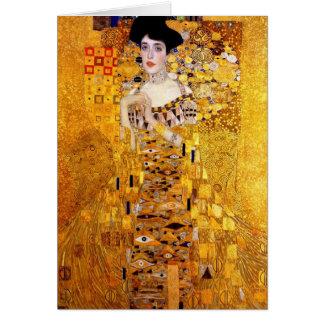 Portrait de Klimt de voiture de salutation d'Adele Carte De Vœux