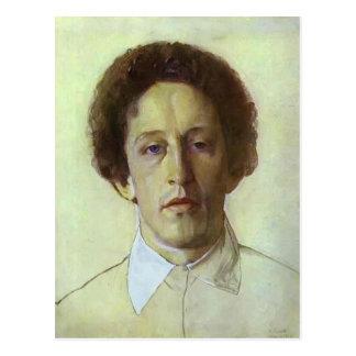 Portrait de Konstantin Somov- d'Aleksandr Blok Carte Postale