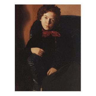 Portrait de Konstantin Somov- d'Anna Lebedeva Cartes Postales