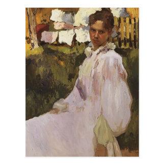Portrait de Konstantin Somov- de Mme N.F. Ober Cartes Postales