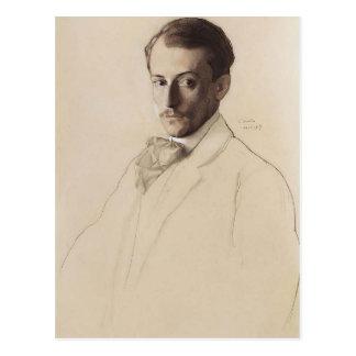 Portrait de Konstantin Somov- d'Eugine Lanceray Cartes Postales