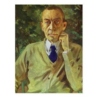 Portrait de Konstantin Somov- du compositeur Cartes Postales