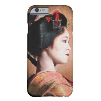 Portrait de la belle peinture de geisha coque iPhone 6 barely there