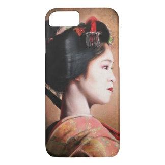 Portrait de la belle peinture de geisha coque iPhone 7