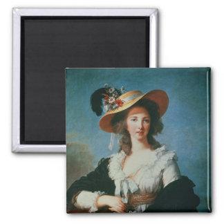 Portrait de la duchesse de Polignac Magnet Carré