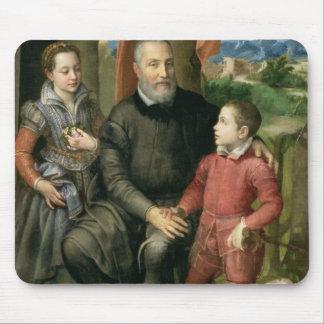 Portrait de la famille de l'artiste, Minerva Tapis De Souris