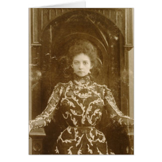 Portrait de l'actrice Vera Komissarzhevskaya Carte De Vœux