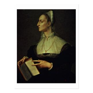 Portrait de Laura Battiferri, c.1555-60 (panneau) Carte Postale