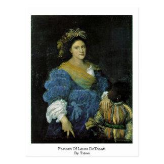 Portrait de Laura De'Dianti par Titian Carte Postale