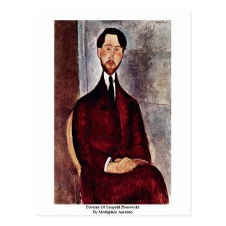 Portrait de Leopold Zborowski par Modigliani Carte Postale