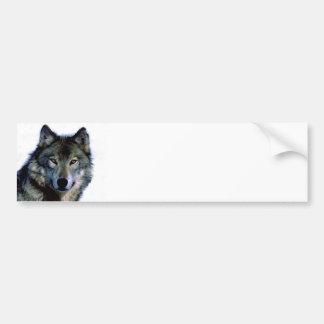 Portrait de loup autocollant de voiture