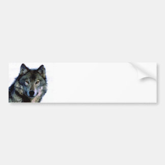 Portrait de loup autocollant pour voiture