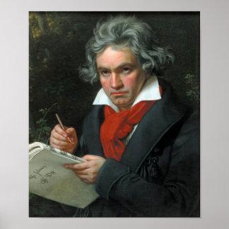 Portrait de Ludwig van Beethoven Posters