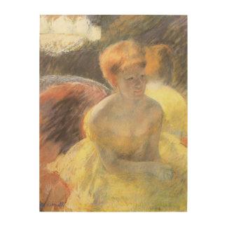 Portrait de Lydia à l opéra par Mary Cassatt Impressions Sur Bois