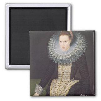 Portrait de Madame, 1613 (huile sur le panneau) Magnet Carré