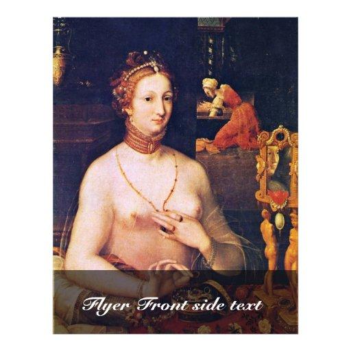 Portrait de Madame At Her Toilette, par Meister De Prospectus Customisé