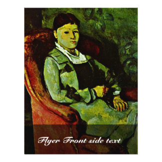 Portrait de Madame Cézanne par Paul Cézanne t Prospectus Personnalisés
