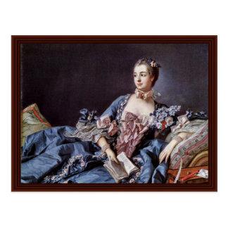 Portrait de Madame de Pompadour Carte Postale