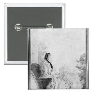 Portrait de Madame du Deffand, 1760 Badges