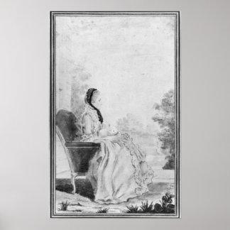 Portrait de Madame du Deffand, 1760 Posters