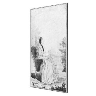 Portrait de Madame du Deffand, 1760 Toiles