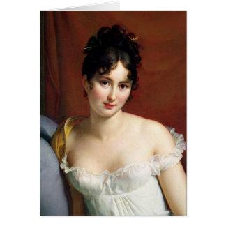 Portrait de Madame Recamier Carte De Vœux