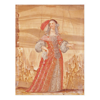 Portrait de Madeleine Bejart dans le rôle de Cartes Postales