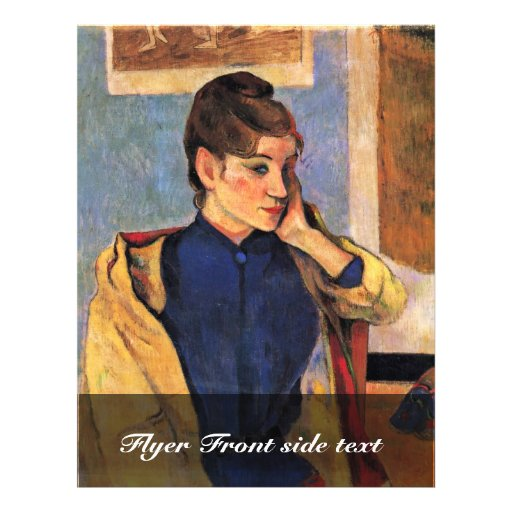 Portrait de Madeleine Bernard par Gauguin Paul Tract Customisé