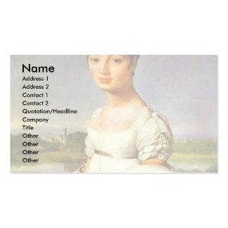 Portrait de Mademoiselle Riviere par l'Au d'Ingres Carte De Visite Standard