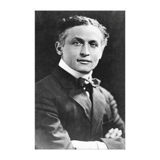 Portrait de magicien américain Harry Houdini Toile Tendue