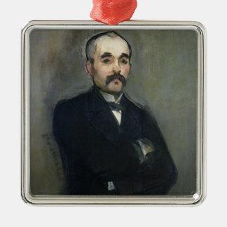Portrait de Manet | de Georges Clemenceau, 1879 Ornement Carré Argenté