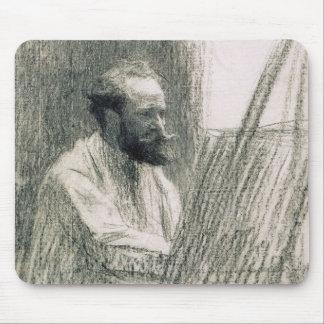 Portrait de Manet | d'Edouard Manet à son chevalet Tapis De Souris
