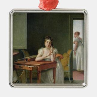 Portrait de Marceline Desbordes-Valmore Ornement Carré Argenté
