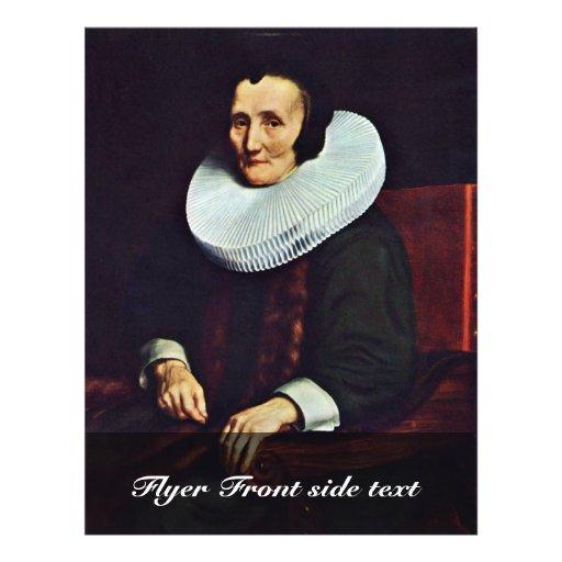 Portrait de Margaretha De Geer, épouse de voyage d Prospectus