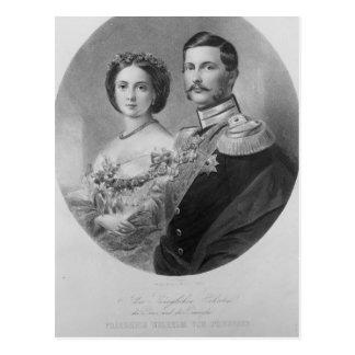 Portrait de mariage de leurs altesses royales carte postale