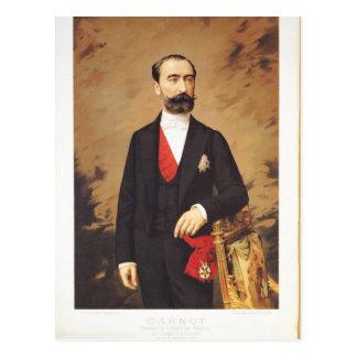 Portrait de Marie Francois Sadi Carnot 1887 Carte Postale