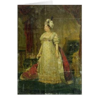 Portrait de Marie-Therese-Charlotte De France Carte De Vœux