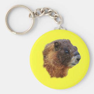 Portrait de Marmot Porte-clé Rond