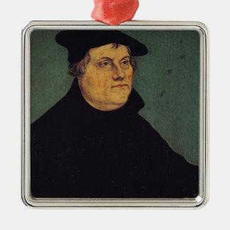 Portrait de Martin Luther 1543 Ornement Carré Argenté