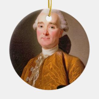 Portrait de Martin-Pierre Foache (huile sur la Ornement Rond En Céramique