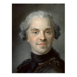 Portrait de Maurice, Comte de Saxe 1747 Carte Postale