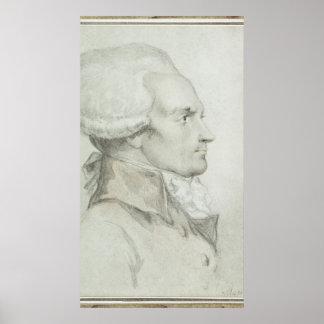 Portrait de Maximilien de Robespierre Affiches