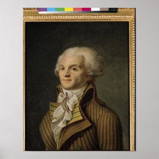 Portrait de Maximilien de Robespierre Posters