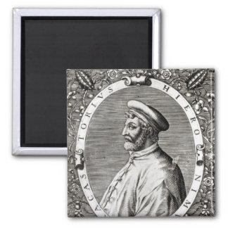 Portrait de médaillon de Girolamo Fracastoro Magnet Carré
