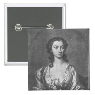 Portrait de Mme Cibber, actrice et chanteur Pin's