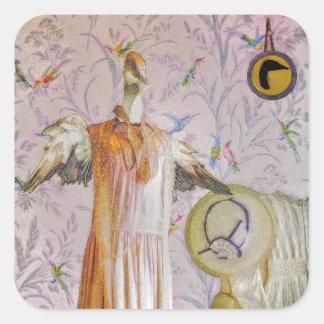 Portrait de Mme Smew's Sticker Carré
