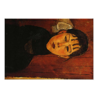 Portrait de Modigliani Amedeo Affiche