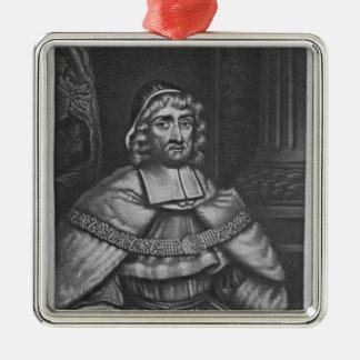 Portrait de monsieur Richard Rainsford Ornement Carré Argenté